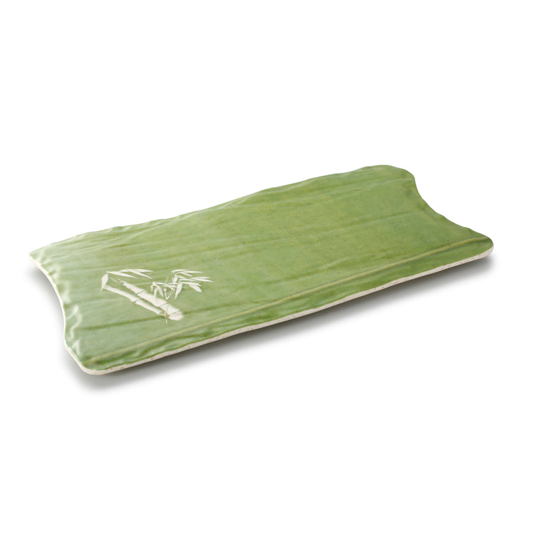 13.3 Inch Bamboo Color Irregular Melamine Serving Tray JM16964QSCZ