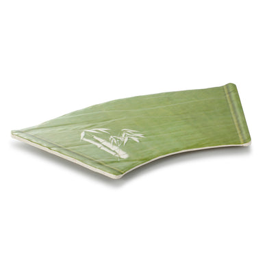 17.7 Inch Bamboo Color Trapezoid Melamine Sushi Plate JM16969QSCZ