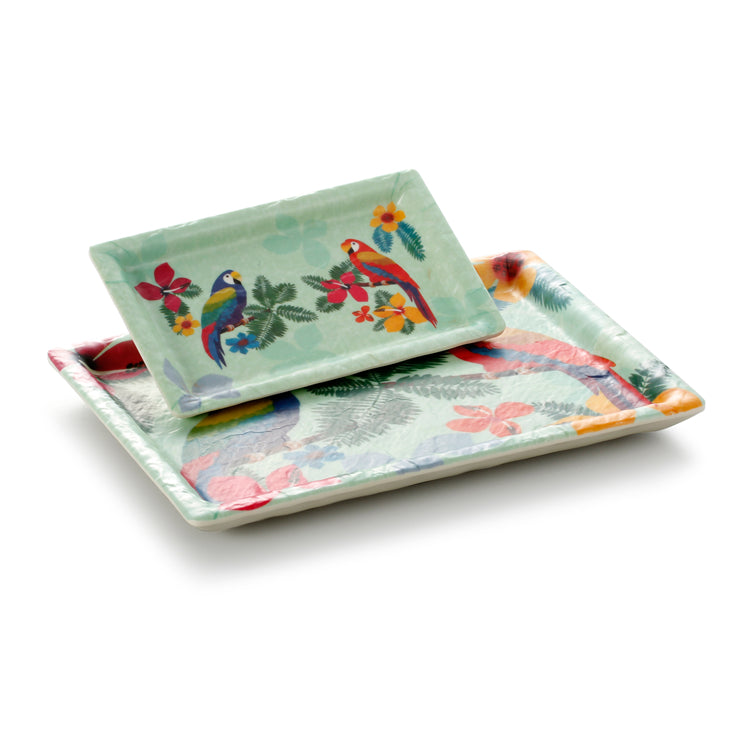 9.6 Inch Colorful Rectangular Melamine Restaurant Plate JM16905HNZC
