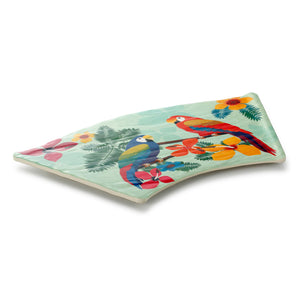 17.7 Inch Colorful Fan-Shaped Melamine Food Tray JM16969HNZC