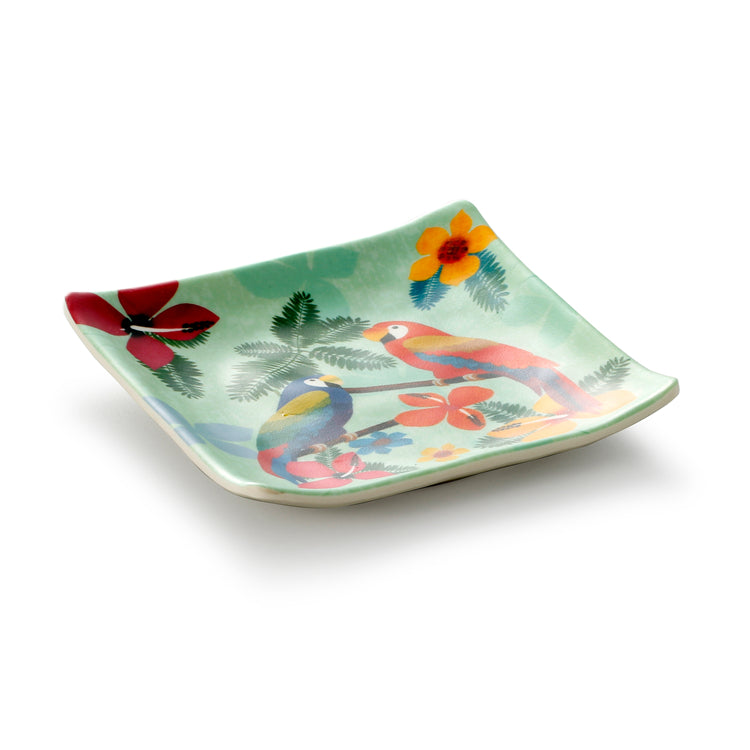 6 Inch Colorful Square Melamine Food Plate WT4415HNZC