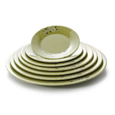 6 Inch Green Flower Round Melamine Charger Plates 64006XCJ