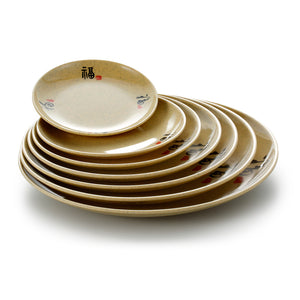 6 Inch Yellow Round Melamine Dinner Plates 60006CSF