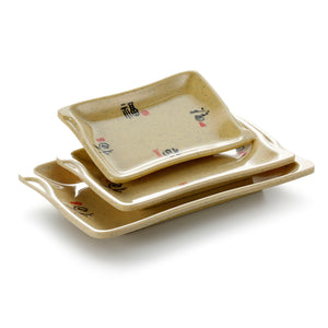 5.7 Inch Yellow Rectangular Melamine Food Plates 82006CSF
