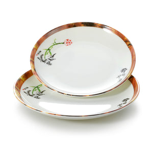 6 Inch Lotus Pattern Melamine Round Plates 60006HTYS