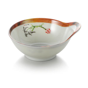 4.5 Inch Lotus Pattern Round Melamine Single Ear Bowl 805DEWHTYS