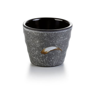 3.3 Inch Black with White Spot Melamine Non Slip Cup 2033PM