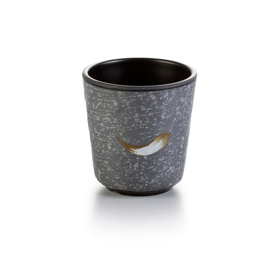 3 Inch Black with White Spot Melamine Cup JM169122PM