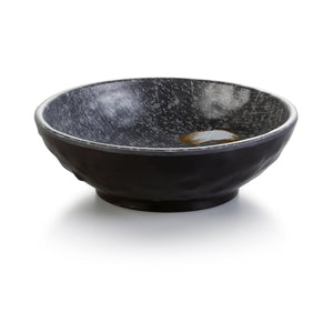 6.5 Inch Black with White Spot Melamine Round Bowl YG140024PM