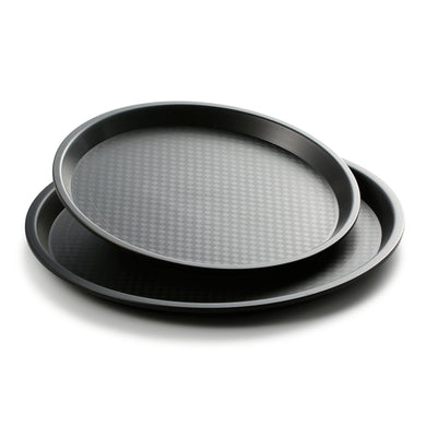 Black Round Plastic Serving Trays JB1200TPHS