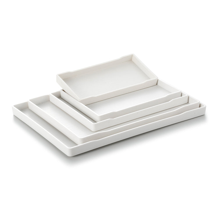 White Rectangle Melamine Sushi Trays JB8000TPBS