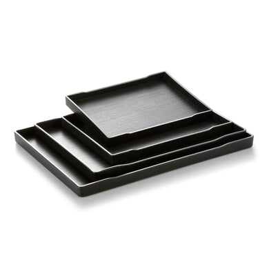 Black Rectangle Melamine Sushi Serving Trays JB8000TPHS