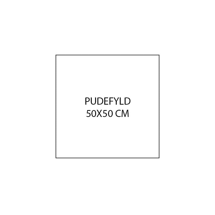 Pudefyld | Andefjer | 50x50 cm