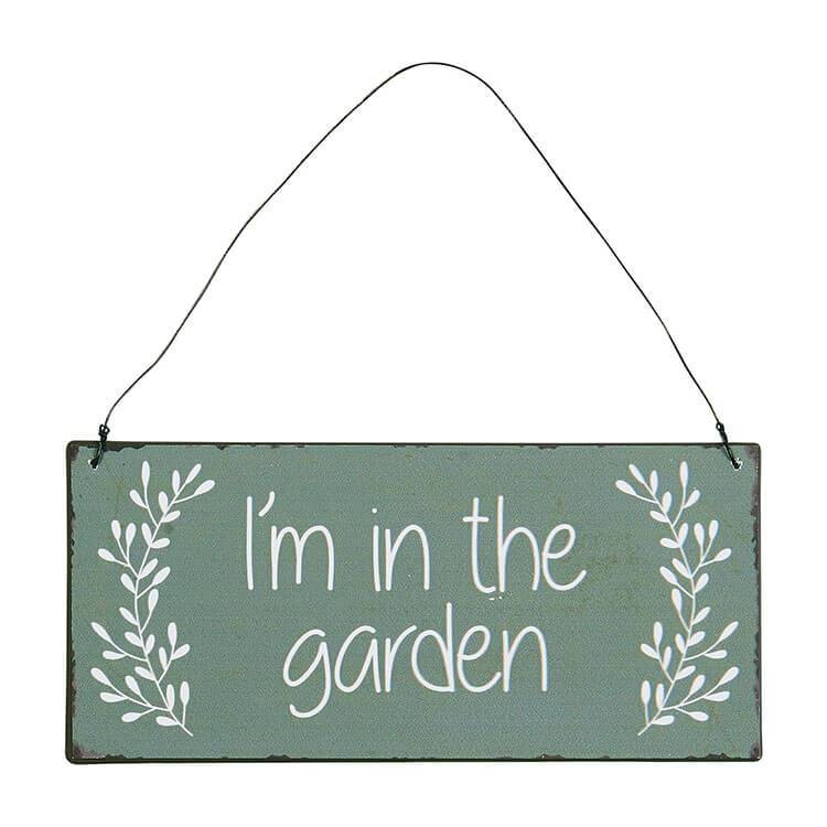 Decor - Metalskilt | I'm In The Garden
