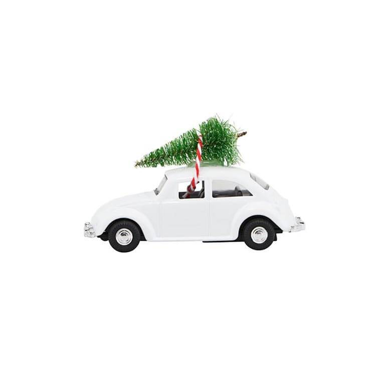 Decor - MINI Xmas Car | Hvid
