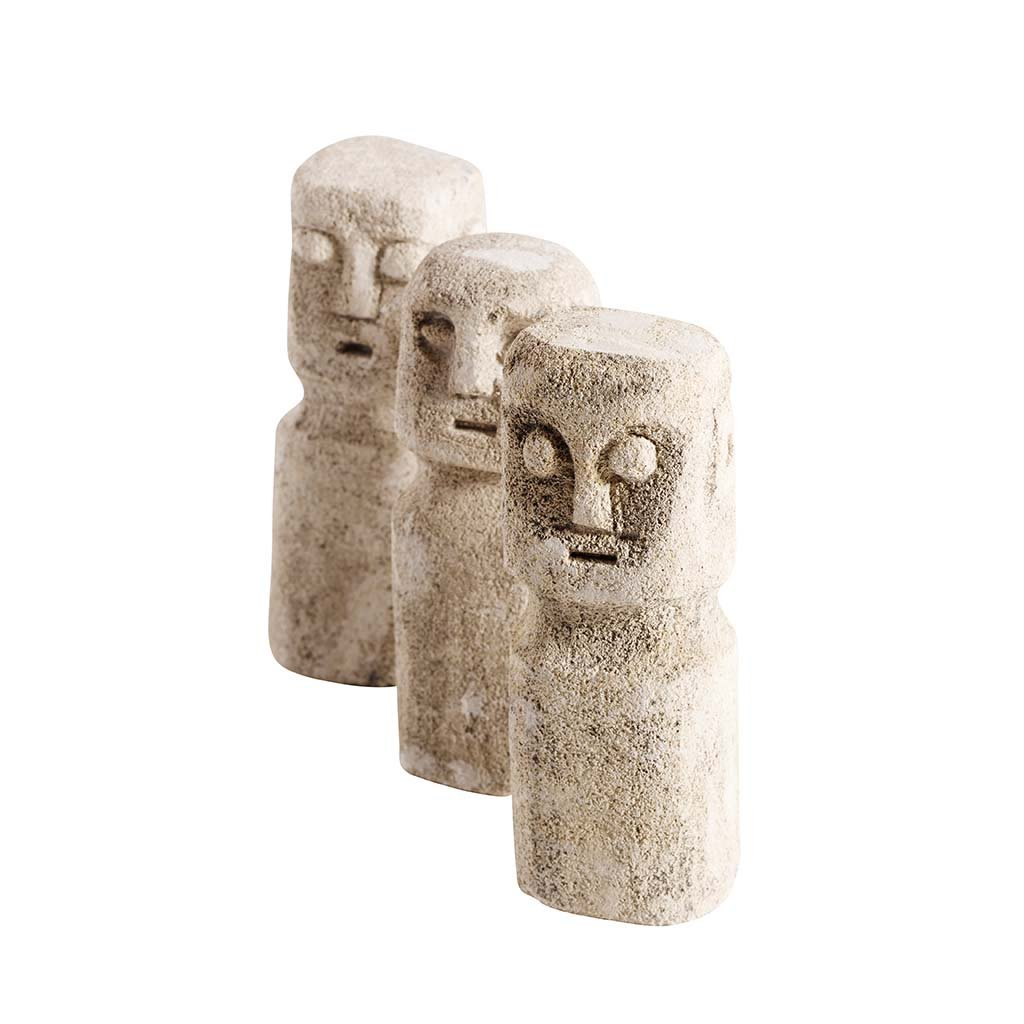 Decor - Stone Sculpture - 3 Stk.