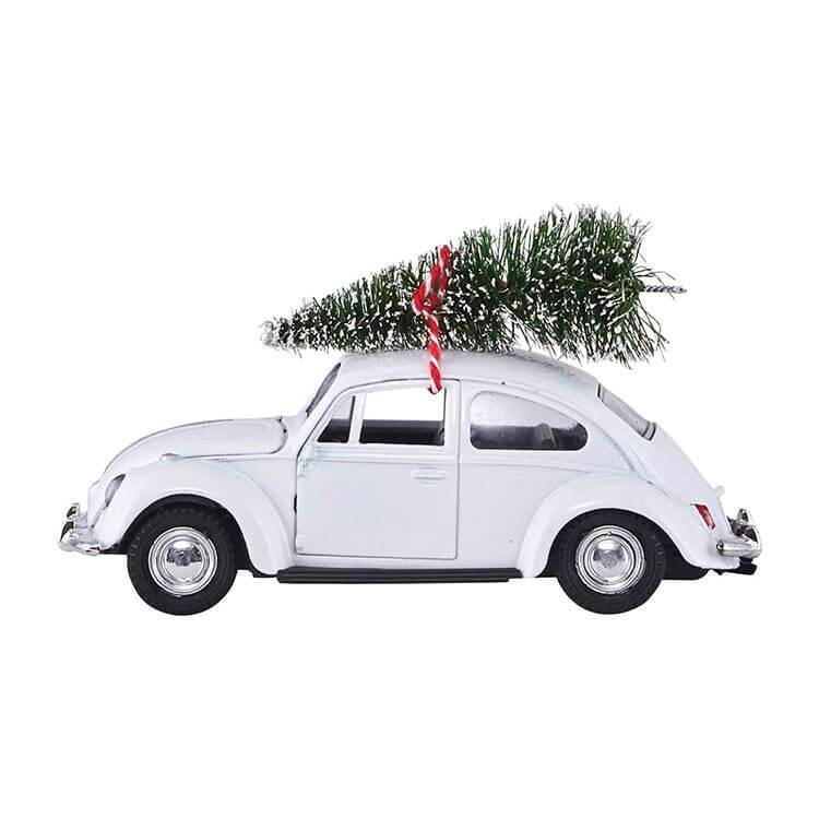 Decor - Xmas Car | Hvid