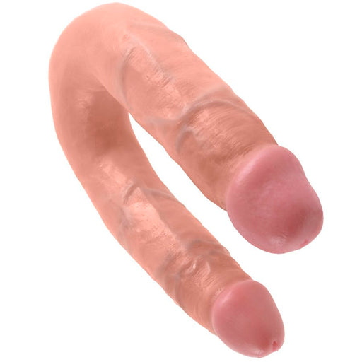 King cock dildo doble penetración 13.9 cm natural