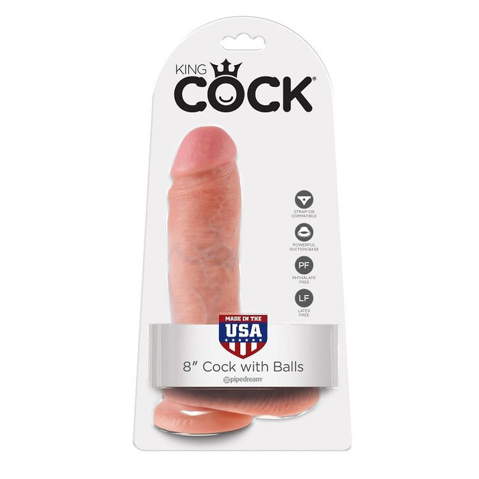 "King cock 8"" pene realistico natural 20.3cm"