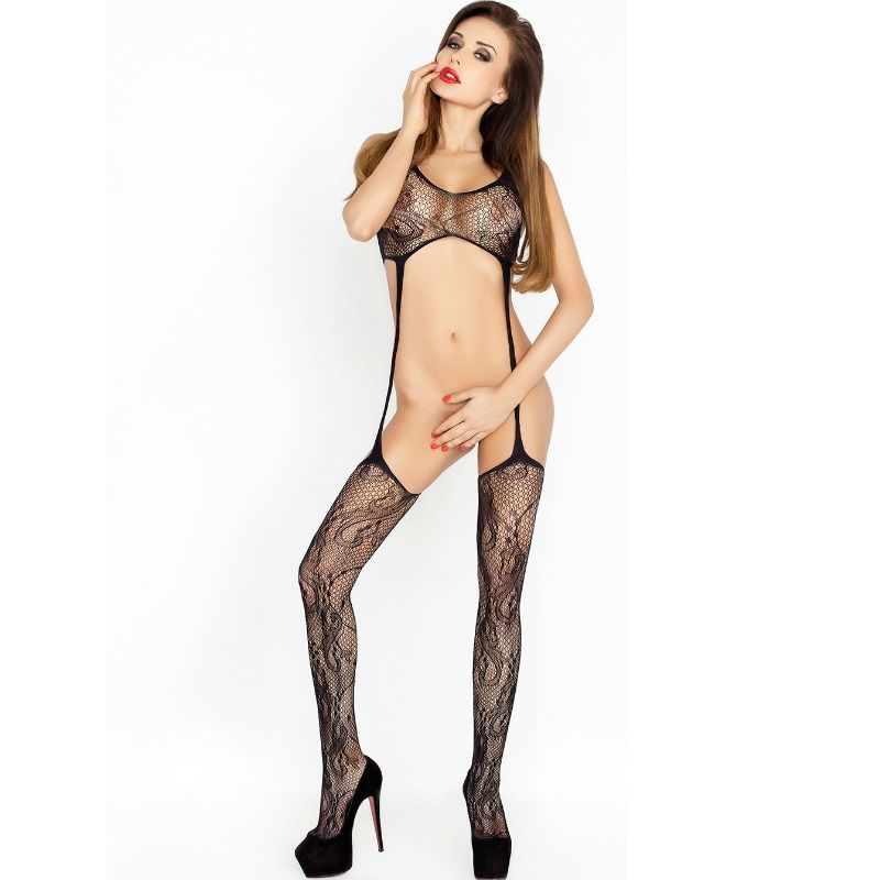 Passion woman bs016 bodystocking negro talla unica