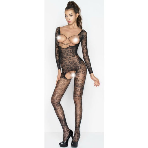 Passion Woman Bs031 Bodystocking Negro Talla Unica