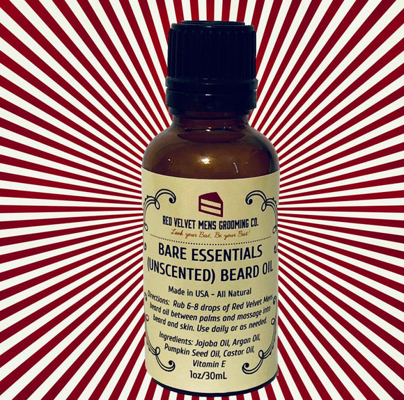 BARE ESSENTIALS (UNSCENTED) BEARD OIL - 1oz/30mL