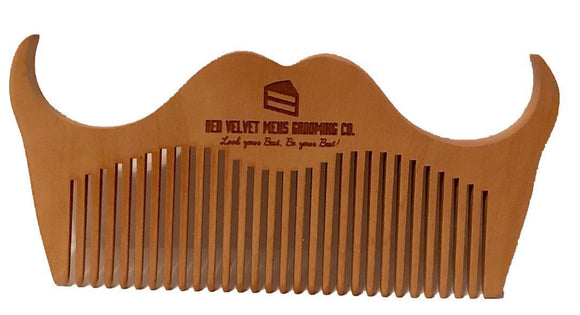 100% PEACHWOOD BEARD COMB