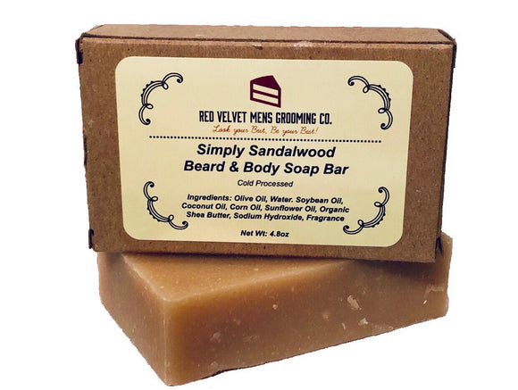 SIMPLY SANDALWOOD BEARD & BODY SOAP BAR