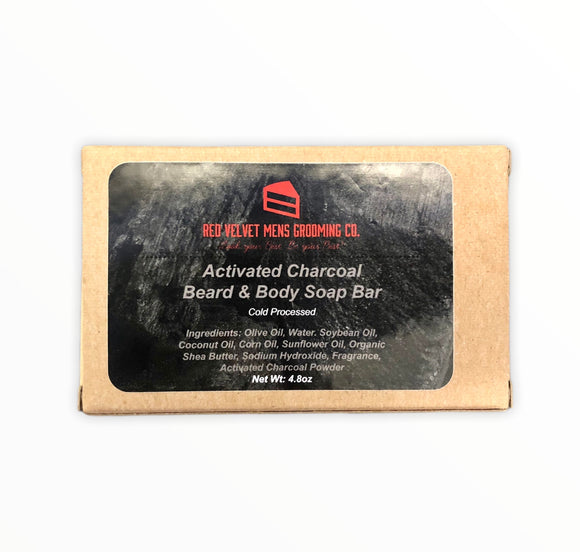 ACTIVATED CHARCOAL BEARD & BODY SOAP BAR