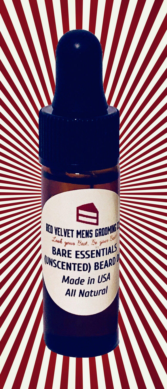 BARE ESSENTIALS (UNSCENTED) BEARD OIL - .13oz/3.7mL Travel Size