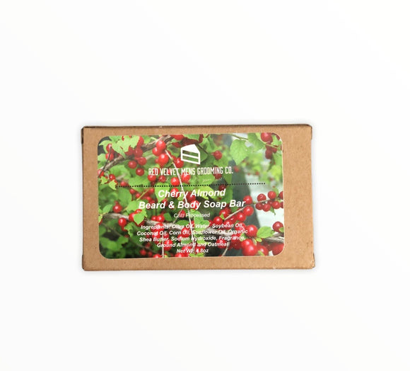 CHERRY ALMOND BEARD & BODY SOAP BAR