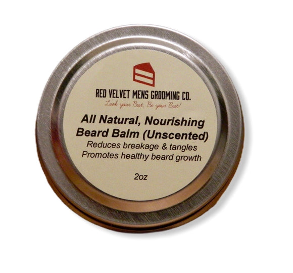 All Natural, Unscented Beard Balm - 2 oz