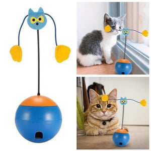 all-in-one twirling interactive cat toys