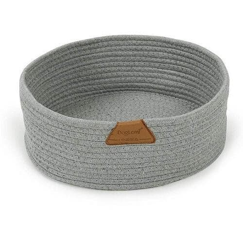 cat cotton rope nest cat scratching bed gray