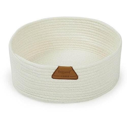 cat cotton rope nest cat scratching bed white
