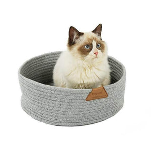cat cotton rope nest cat scratching bed