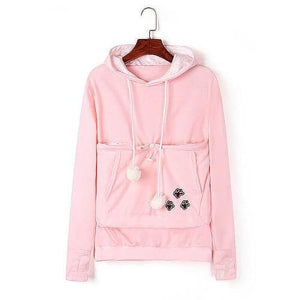 Cozy Cat Hoodie With Kangaroo Pouch Pink [SALE]