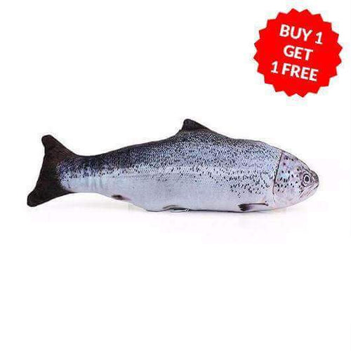 Realistic Looking Cat Kicker Fish Toy Buy One Get One Free