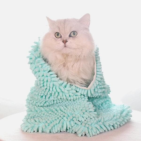 super shammy ultra absorbent quick dry cat bath towel