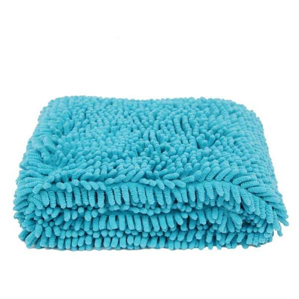 super shammy ultra absorbent quick dry cat bath towel blue