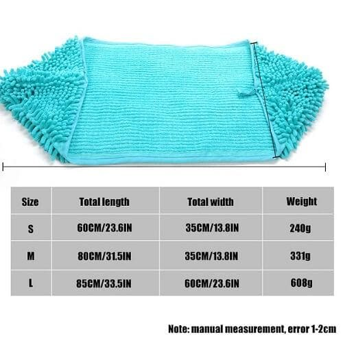 super ultra absorbent quick dry cat bath towel size