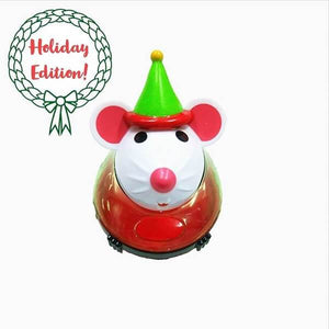christmas edition cute mouse treat dispenser for cat