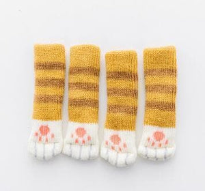 cat paw chair table leg socks furniture leg protector ginger color
