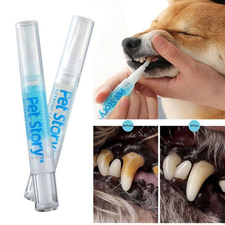 dog teeth cleaning kit pet tartar remover effect after use