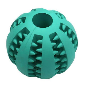 dog treat toy food dispensing training ball blue