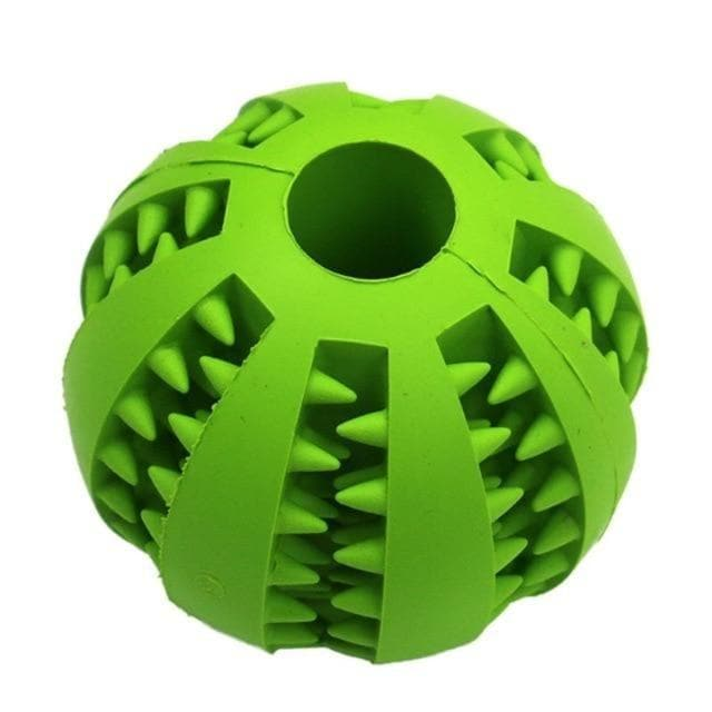 dog treat toy food dispensing training ball green