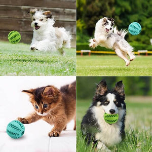 dog treat toy ball, dog tooth cleaning toy