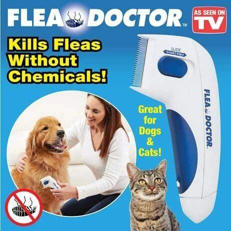 electric flea comb kills fleas without chemicals great for dogs and cats