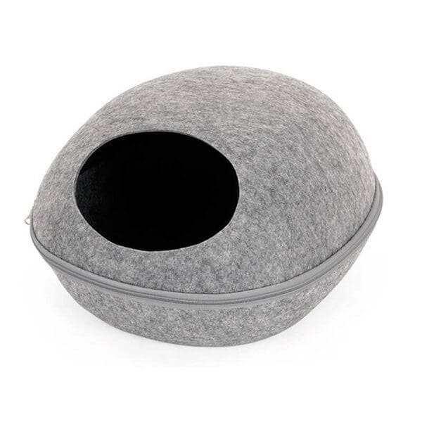 cocoon felt cat caves bed for indoor cats and kittens gray