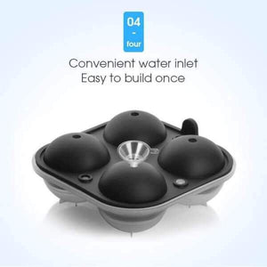 silicone round ice ball maker convenient water inlet easy to build once